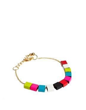 ASOS colored cube bracelet
