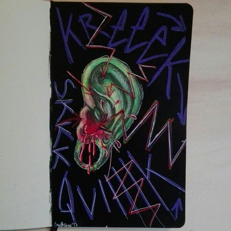 Blooding ear illustration by @distrofiamuscolare on IG   #art #illustrazione #draw #drawing #ear #blood #moleskine #watercolor #surrealism #painting #illustrator #myart #disfrofiamuscolare