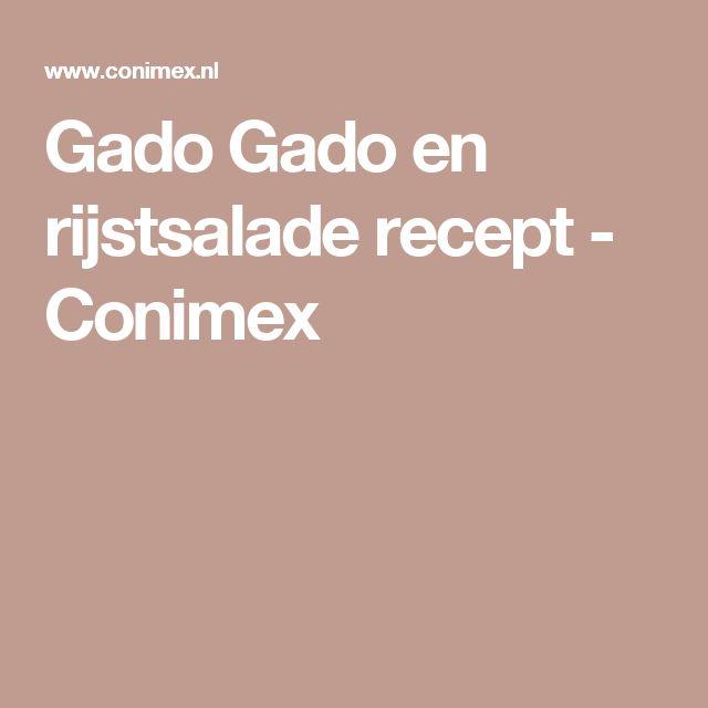 Gado Gado en rijstsalade recept - Conimex