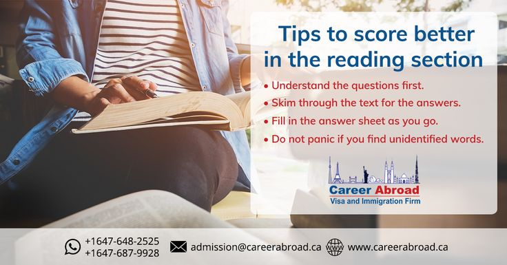 Tips to score in the reading section of #IELTS Visit: http://www.careerabroad.ca/study-abroad-canada/ for assistance  #StudyinCanada #StudentVisa #Canada
