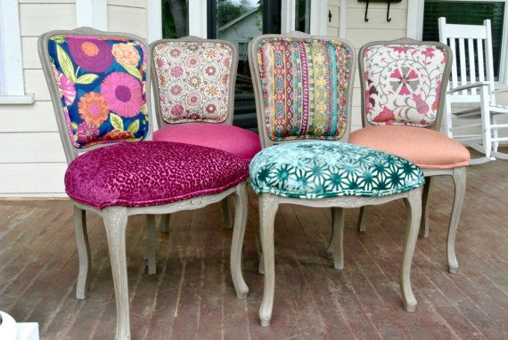 Eclectic Boho Dining Chairs Upholstery Reupholstery