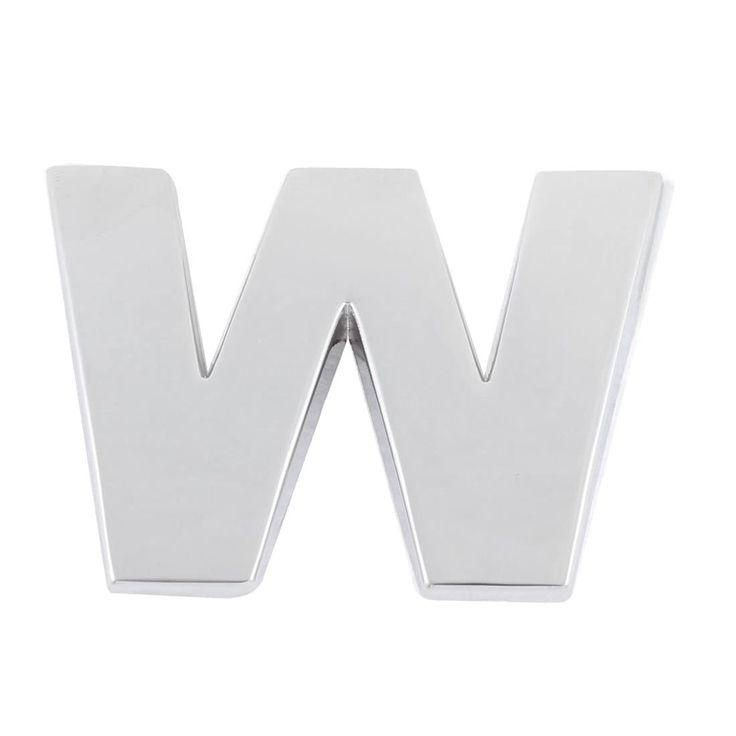 Unique Bargains Self Adhesive Stickers Car Auto 3D Emblem Badge Decal Letter Chrome (Grey) Symbol W