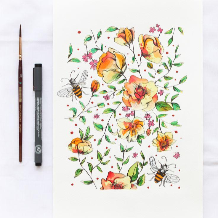 Watercolor paintings on Behance