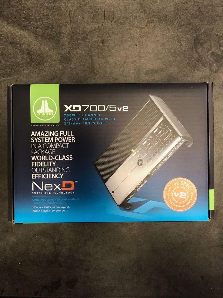 JL Audio XD700/5v2 5-Channel Car Audio Amplifier 4 Channel plus Sub Channel #JLAudio