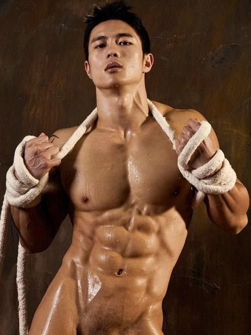 Peter Lee Chinese Hot Men Sexy Muscle Nude  Sexy Asian -9842
