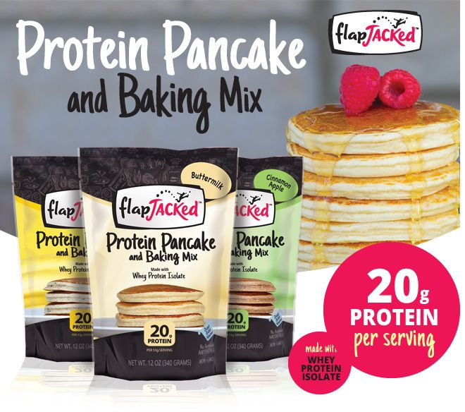 Protein Pancake and Baking Bix. 15-17g Protein per serving. Made with Whey Protein Isolate.