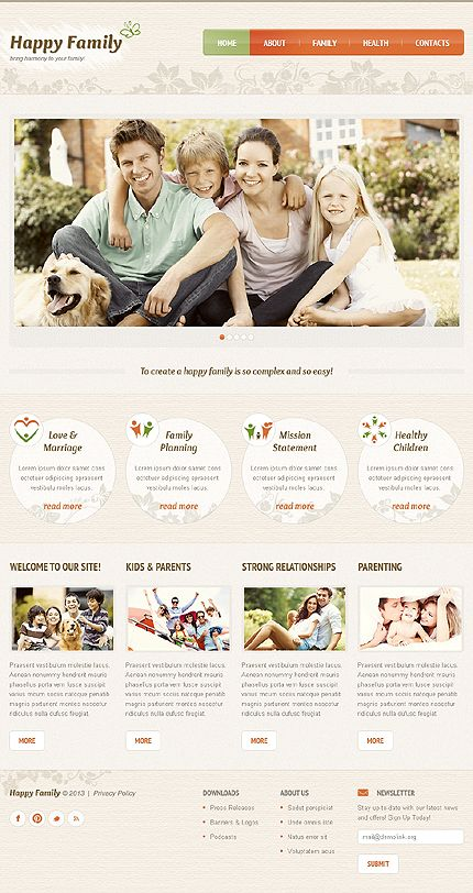 47 best Family Website Templates images on Pinterest | Website ...