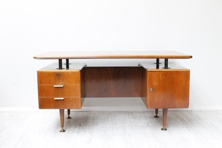 Vintage Retro Bureau A A Patijn Walnoot / hout Jaren 50 60