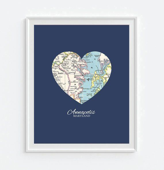 16 best I Love Maps images on Pinterest Family gifts Heart map