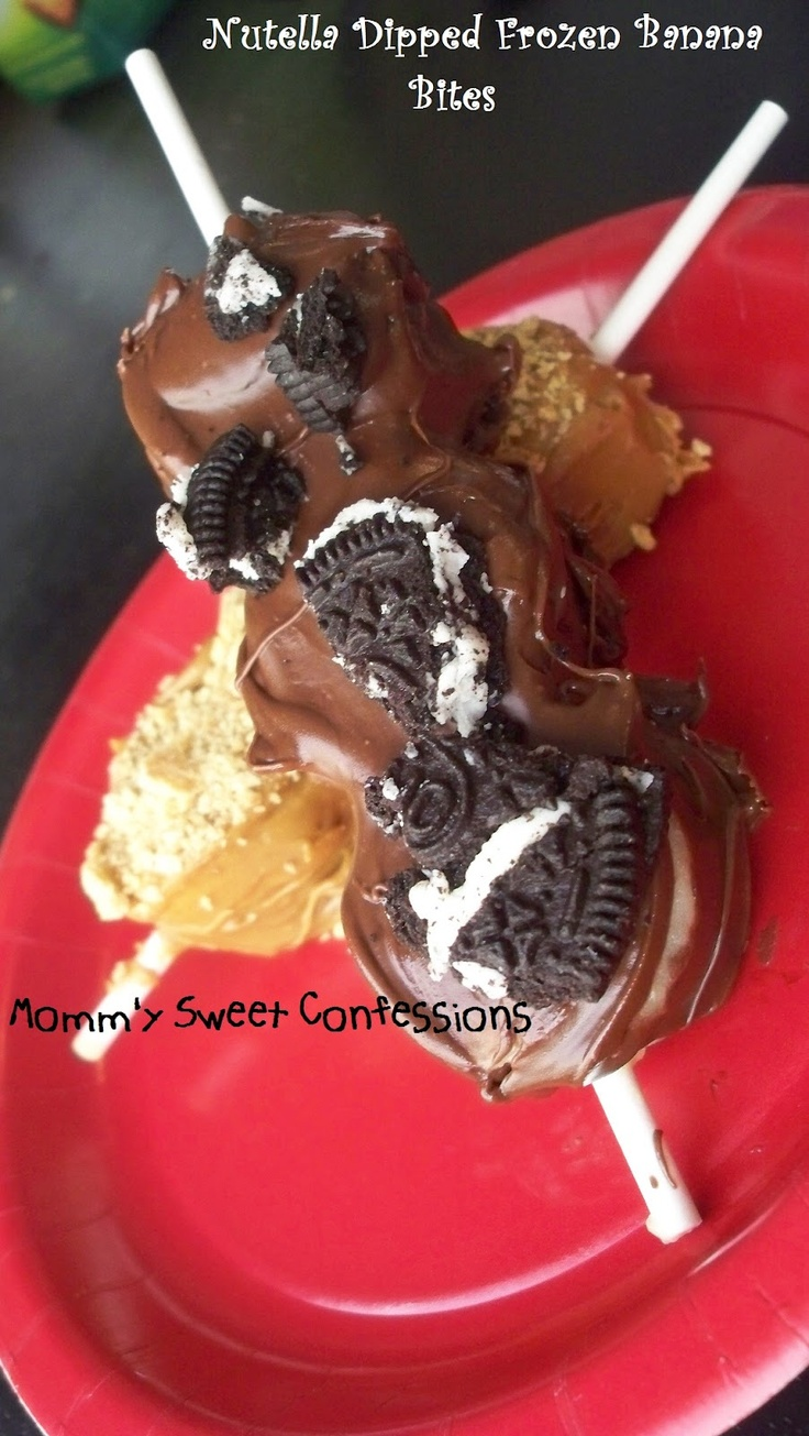 MOMMY'S SWEET CONFESSIONS: Nutella Dipped Frozen Banana Bites