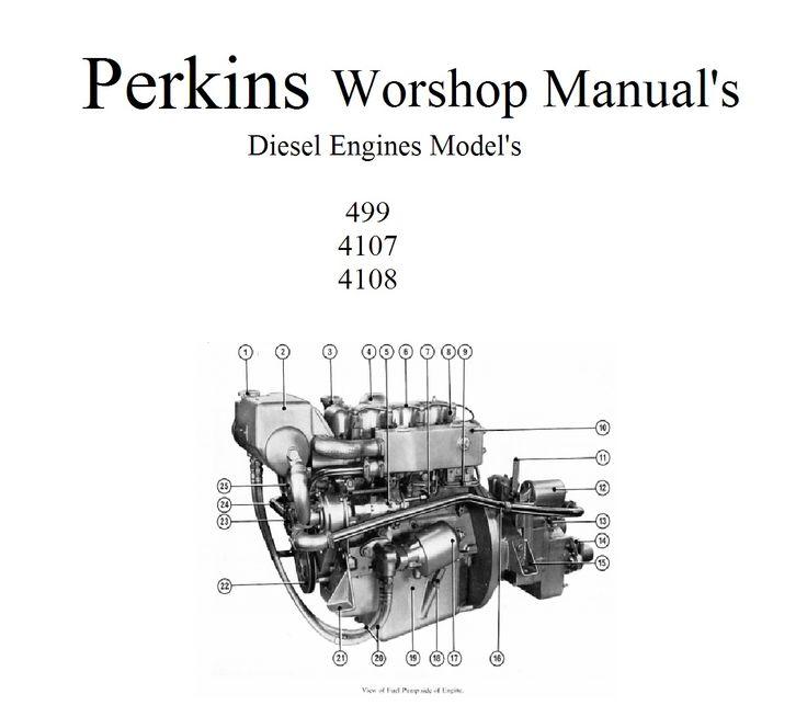 perkins marine diesel engines 4 108 4 107 4 99 workshop manuals retrodiy marine diesel