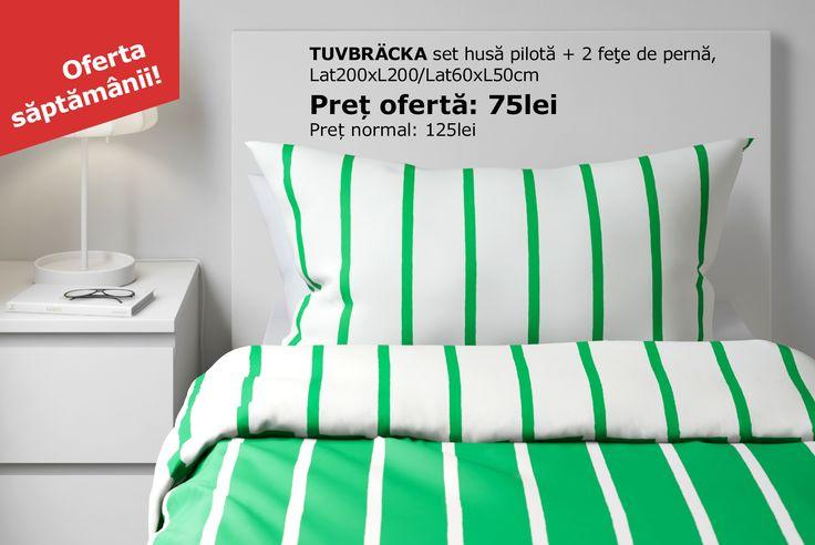 Designer-ul husei de pilotă TUVBRÄCKA a ales să picteze modelul manual și i-a oferit două opțiuni de culoare, pentru ca tu să le poți schimba după plac.Până pe 2 iulie poți găsi husa de pilotă TUVBRÄCKA la un preț redus.Oferta este valabilă în limita stocului disponibil.