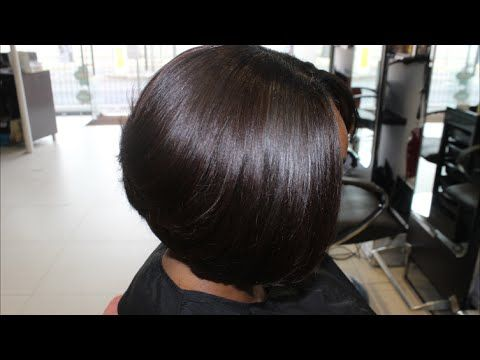 how to style a bob haircut at home salon work sew in bob bobs and sew 5290