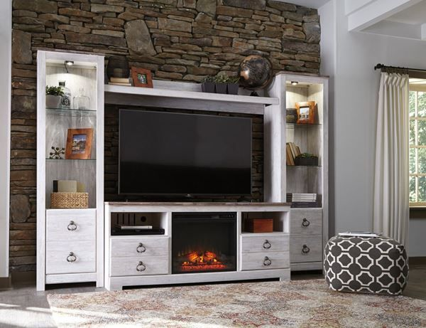 The Ashley Furniture Willowton wall unit with electric fireplace is now in stock at American Furniture Warehouse.  Shop AFW.com for great prices on Ashley Furniture!