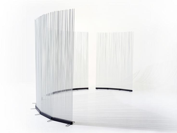 Separador de ambientes para exteriores de fibra de vidrio STICKS INLINE by Extremis diseño Globalhaus