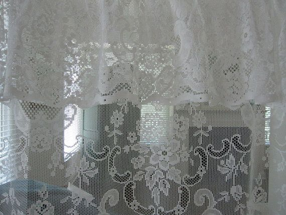 Lace Shower Curtain White Lace Shower Curtain by TheCottageWay