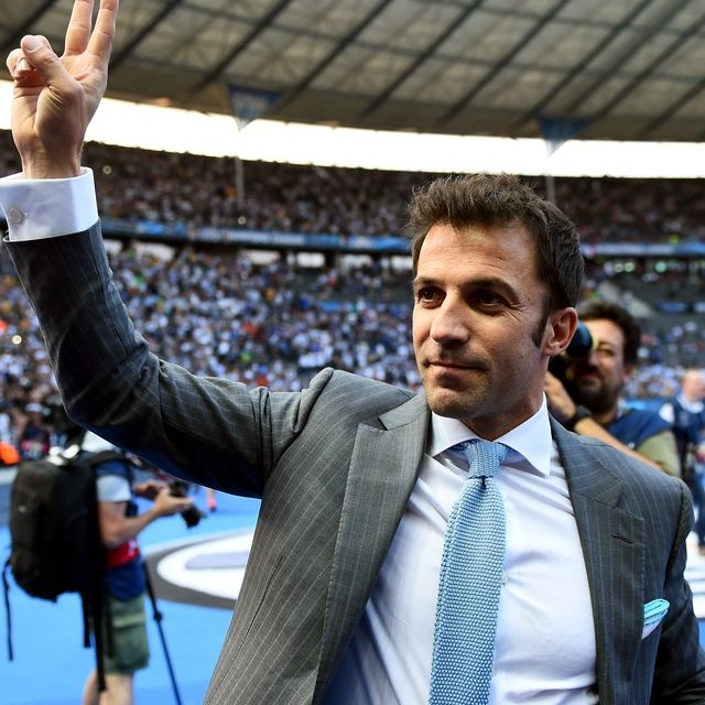 Alex #DelPiero a #Berlno saluta i tifosi della #Juventus