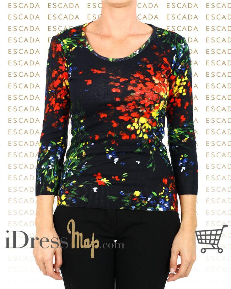 A black tshirt with floral design from @escadaofficial  #saldiidressmap #idressmap #fashionista #fashiongram #bestoftheday #editoftheday #picoftheday #lookoftheday #outfitoftheday #ootd #shopping #AI16 #FW16 #totallook #blogger #fashion #glamour #moda #likes4likes #lifestyle