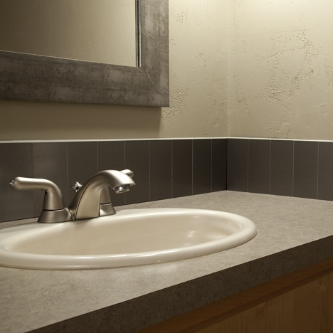 Best Angies  Bath Images On Pinterest Bathroom Ideas - Bathroom backsplash tile ideas