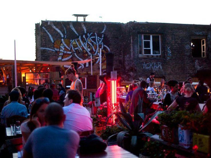 Kater Holzig, Berlin: The new iteration of the legendary club Bar25. Now in a former soap factory, Kater Holzig is a sprawling cultural playground with a restaurant, a theater, a multi-tiered waterside deck, and artist ateliers.