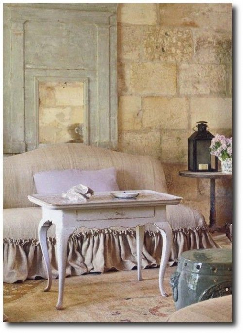 Slip Covers, Linen Slipcovers, Provence Style,Pam Pierce, Rustic Furniture, Rustic Designs, European Decor, European Decorating, French Style