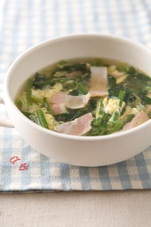 ほうれん草と卵のジンジャースープ | watoさんのレシピ【オレンジページnet】プロに教わる簡単おいしい献立レシピ