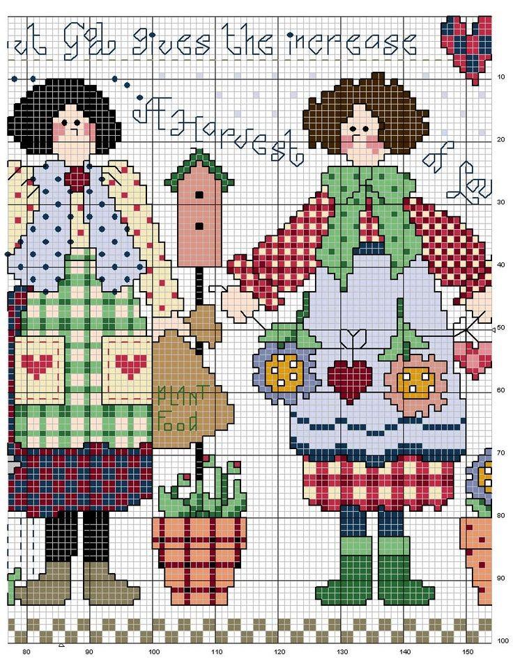 Schema punto croce Giardiniera-2