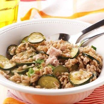 ricetta Farro con zucchine e tonno