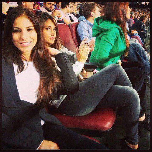 Cesc Fabregas avec Daniella Semaan et Leo Messi avec Antonella Roccuzzo