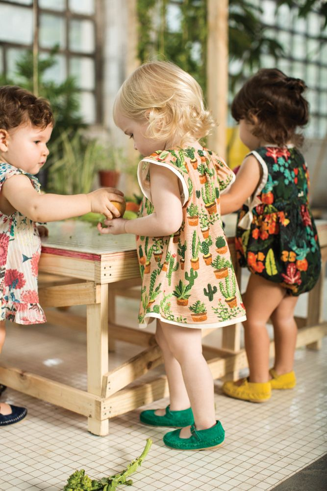 flowers galore with brightly colored shoes, what more could you ask? #estella #kids #fashion