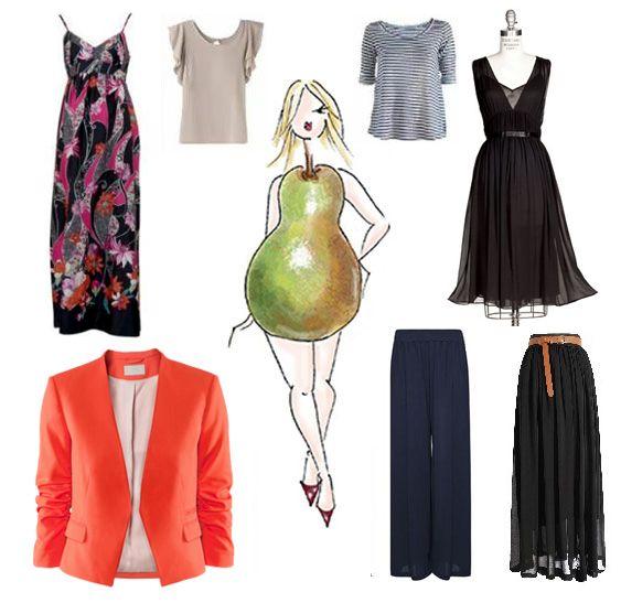 vestimentas para cuerpos tipo pera