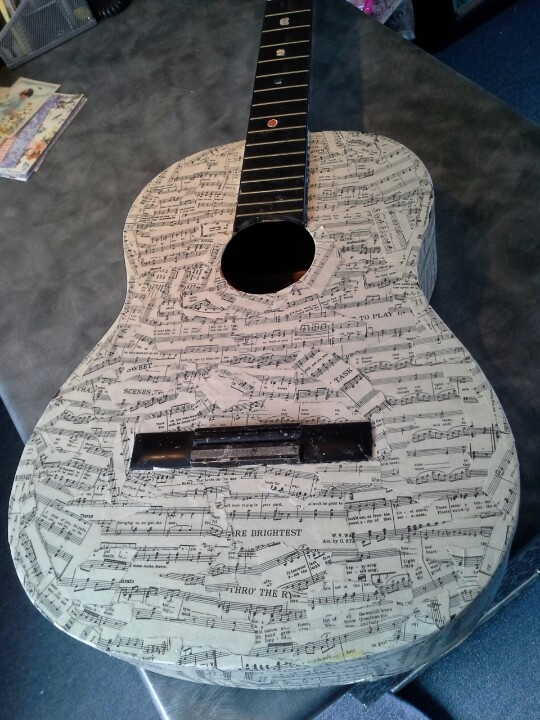 28 best images about decorated guitars on pinterest rock for Acoustic guitar decoration ideas
