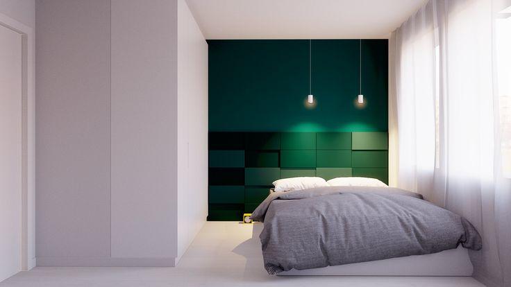 Minimalistyczna sypialnia. Minimalist bedroom.