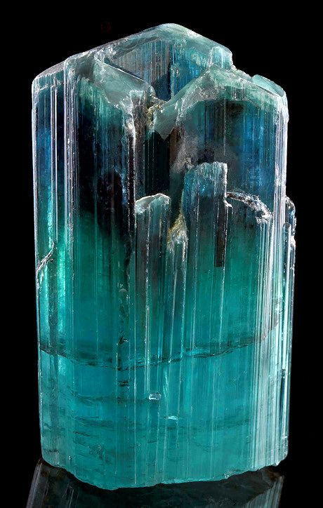 Fine terminated crystal of Indicolite Tourmaline!  ~  From the Laghman Province, Nuristan, Afghanistan.