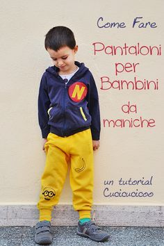 Risparmia tempo e soldi! Come cucire pantaloni dalle maniche delle felpe senza cartamodello! Refashion tutorial di www.cucicucicoo.com