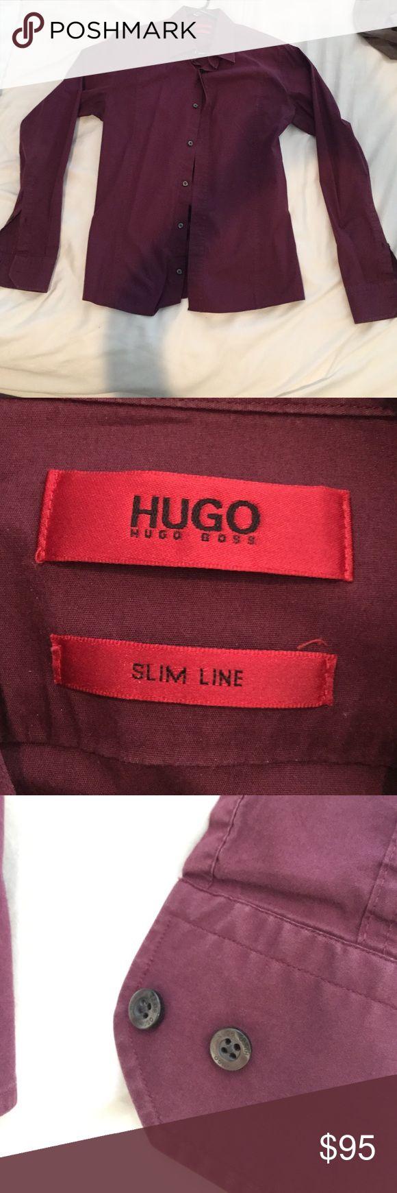 Button up dress shirt Men's button up slim fit dress shirt Hugo Boss Shirts Dress Shirts