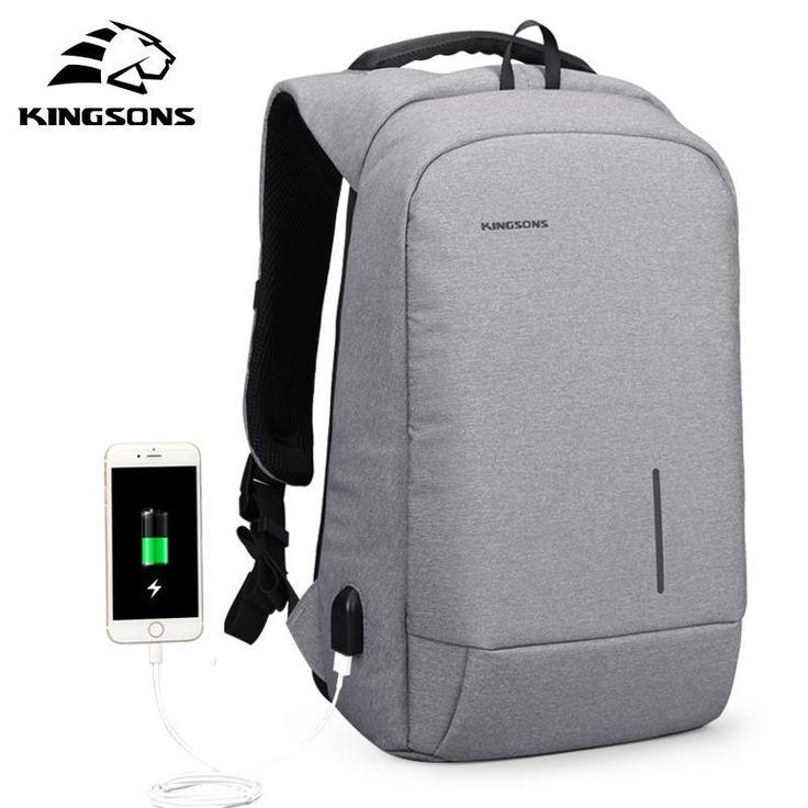New Arrival 13-15'' USB Charging Backpack Unisex School Laptop Travel Bag