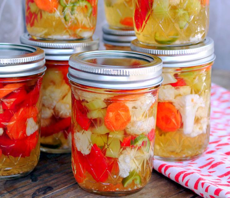 Giardiniera - Homemade.  So simple and easy.  My daughter and I love this stuff!  My days of buying it from the grocery are over.