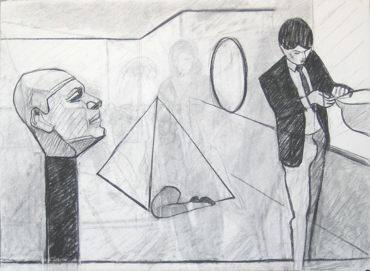 Muséet, Kol, 56x76cm