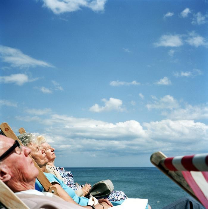 View image only Martin Parr G.B. ENGLAND. Brighton. Sunbathing. 1992.