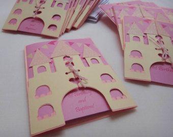 Invitaciones de princesa Castillo de copo de por PartyBeesCreations