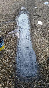 Article: Tar And Gravel Roof Repair Edmonton, Alberta. Repair To Splits,  Blisters, Pitch Pockets.