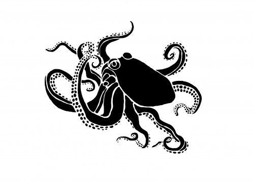 Huge Octopus Wall Stencil Reusable Easy Wall Decor