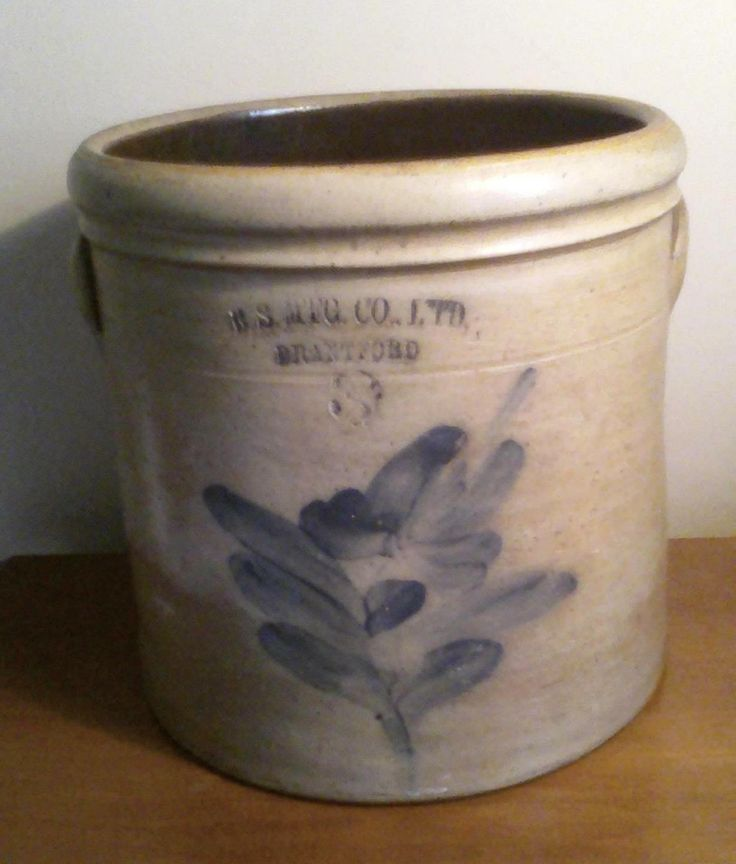 B.S. Mfg. Ltd. Decorated Crock