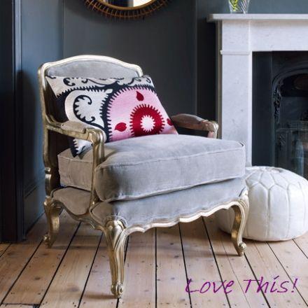 pretty gray chair