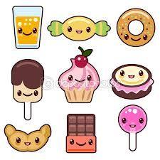 dibujos kawaii de comida chatarra - Buscar con Google