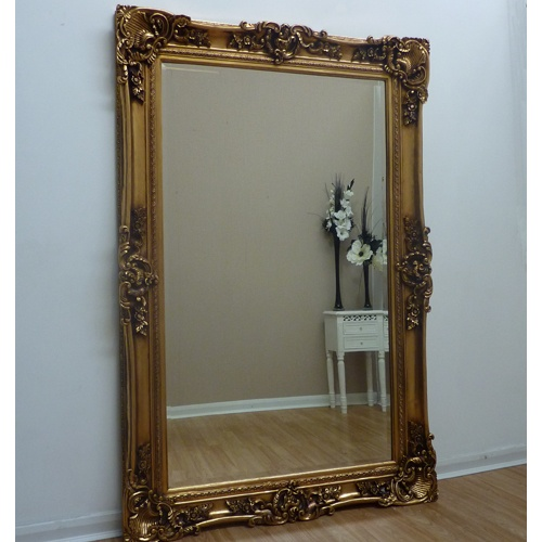 Extra large gold floor standing mirror beau decor home for Extra large mirrors