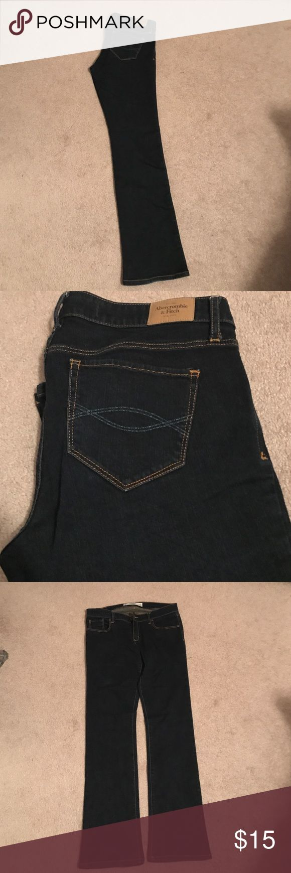 Abercrombie and fitch jeans Dark wash Abercrombie and Fitch boot cut jeans. Excellent condition from a non smoking and pet free home. Perfect for work or play. Abercrombie & Fitch Jeans Boot Cut