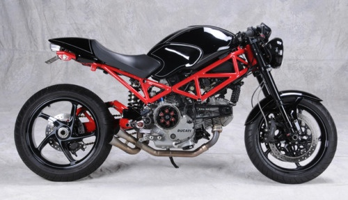 An 05 Monster S2R 800 built by Analog Motorcycles