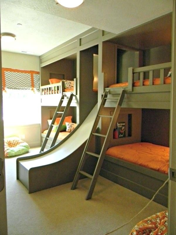 Double Loft Beds For Kids Best Kids Bunk Beds Ideas On Boy Bunk Beds Boys Shared Bedroom Ideas And Kids Room Ho Cool Boys Room Home Bedroom Bunk Bed With Slide